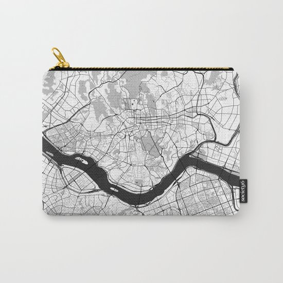 Seoul Map Gray Carry-All Pouch