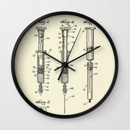 Hypodermic Syringe-1947 Wall Clock