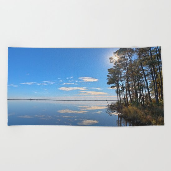 Blackwater Sunburst Marsh Beach Towel