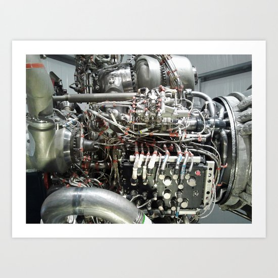 SPACE SHUTTLE ENGINE Art Print