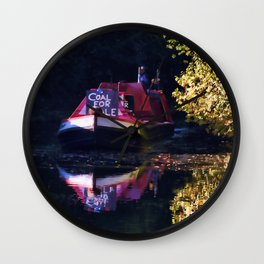Anyone for coal on the oxford canal Wall Clock