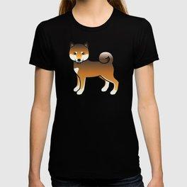 Red Sesame Shiba Inu Cute Cartoon Dog T-shirt
