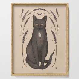 The Cat and Lavender Serving Tray