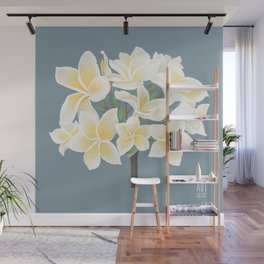 PLUMERIA flower - by Greta Darets Wall Mural