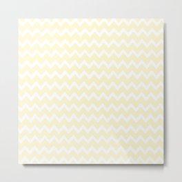 zigzag bege Metal Print