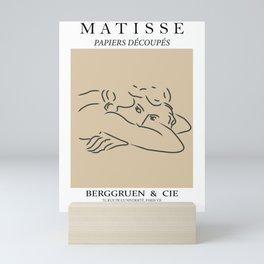 Henri matisse the essence of life contemporary, modern minimal art Mini Art Print