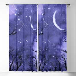 Starry Night and Moon #3 Blackout Curtain