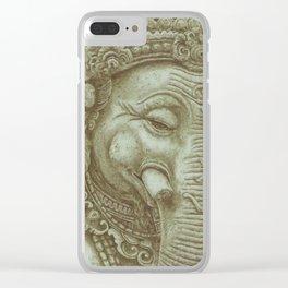 Ganesh green Clear iPhone Case