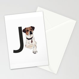 J is for Jack Russell Terrier Dog Stationery Cards
