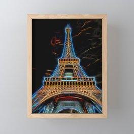 Illustration of Eiffel Tower - Paris, France Framed Mini Art Print