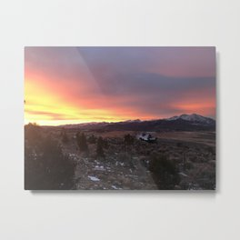 Sunrise at Sopris Metal Print