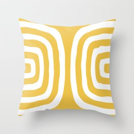 Mid Century Modern Abstract Composition 326 Yellow Throw Pillow