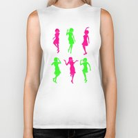 girls Biker Tanks featuring Girls by Derek Eads