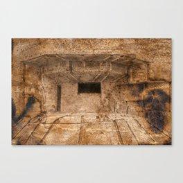 Ravaged War Bunker Canvas Print