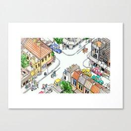 Tudor Hotel Canvas Print