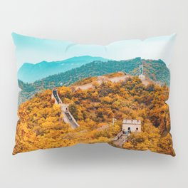 The Great Wall of China in Autumn (Color) Pillow Sham