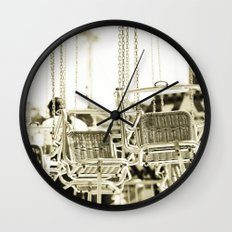 Travelling Chairs Wall Clock