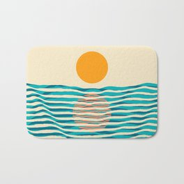 Ocean current Bath Mat