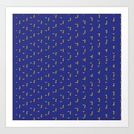 Blue carrot party Art Print