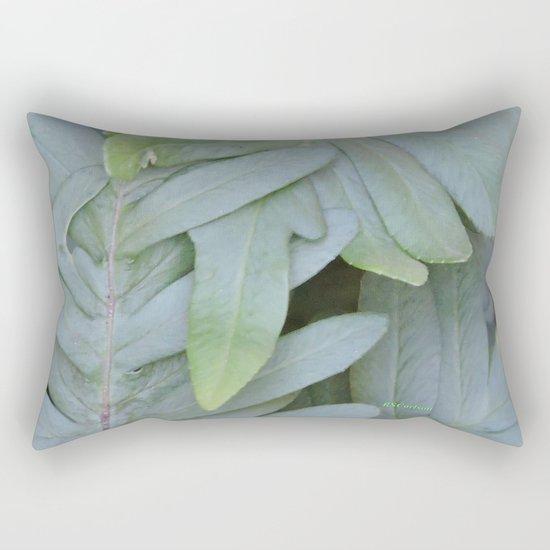 TEXTURES -- Ferns Enfolded Rectangular Pillow
