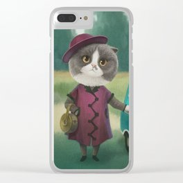 Where are you going kitty? Clear iPhone Case