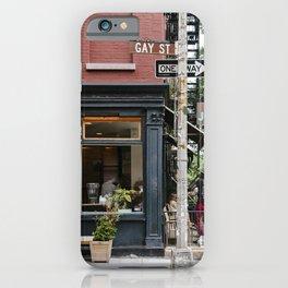 Picturesque restaurant in Greenwich Village, New York iPhone Case
