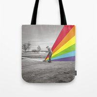 floyd Tote Bags featuring Mr. Floyd by Blaz Rojs
