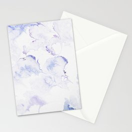 Modern abstract navy blue lavender watercolor Stationery Cards