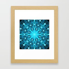 Electric Universe Mandala Framed Art Print