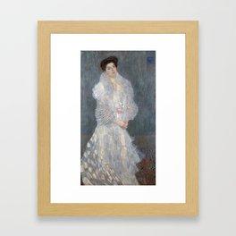 Gustav Klimt - Portrait of Hermine Gallia Framed Art Print