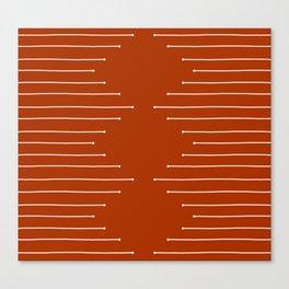 Terracotta geometric pattern Canvas Print