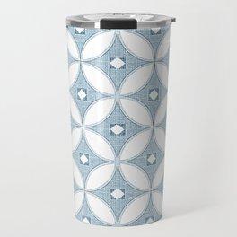 Modern chinoiserie, circle design , grey textures Travel Mug