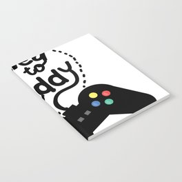 Leveled Up To Daddy Gamer Video Funny New Dad Gifts Notebook