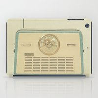 radio iPad Cases featuring Radio Days by Cassia Beck