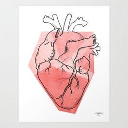 Heart Lines Art Print