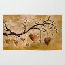 Der Liebesbaum (in Acryl) Rug