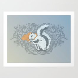 Fearless Creature: Chippy Art Print