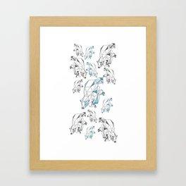 Polar bear population Framed Art Print