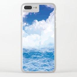 Wolken über dem Meer Clear iPhone Case