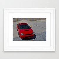 subaru Framed Art Prints featuring Subaru WRX by 218studio