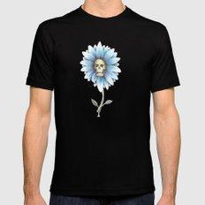 skull daisy Mens Fitted Tee Black MEDIUM