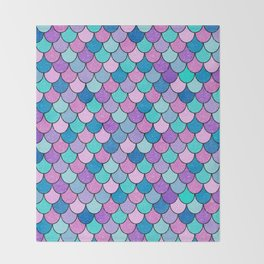 Sparkle Scales Throw Blanket