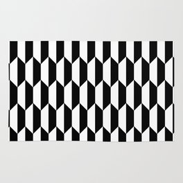 Black Quadrilateral - Baby Stimulation Pattern Rug