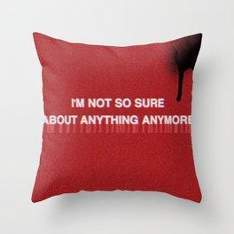 Black Spray Paint Throw Pillow