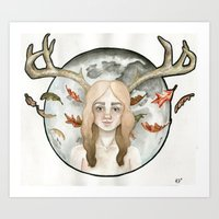 Mistress of the Animals Art Print
