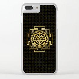 Golden Sri Yantra  / Sri Chakra Clear iPhone Case