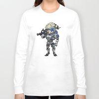 garrus Long Sleeve T-shirts featuring Mass Effect 3: Garrus Vakarian Chibi by SushiKitteh'sCreations