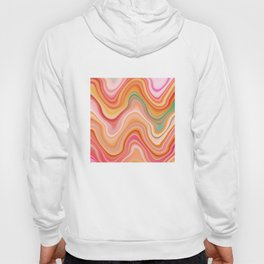 Bubble gum memories - Abstract Pink Pattern Hoody