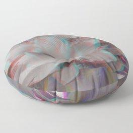 Lotus Glitch Floor Pillow