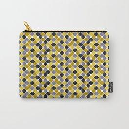 Yellow grey navy blue mustard spot seamless pattern #society6 #decor #buyart #artprint Carry-All Pouch